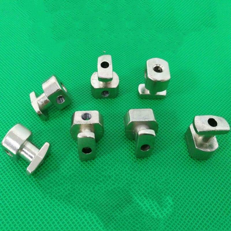 10 unids/lote bloque fijo de rejilla de aleación de Zinc chapado en...