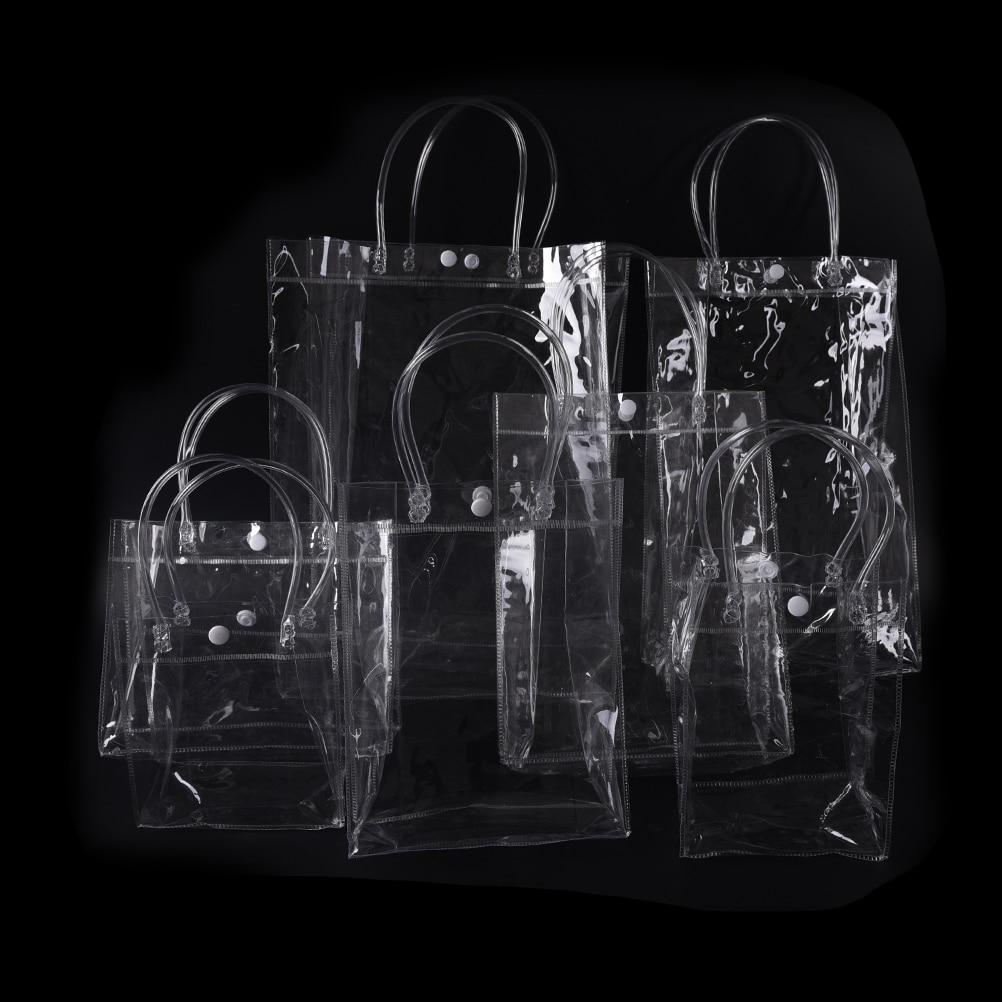 10Sizes Portable Waterproof Plastic PVC Travel Cosmetic Bag Clear Transparent Makeup Bags