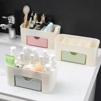 drawer organizer box cosmetic makeup brushes holder box desktop jewelry plastic container bathroom skincare organizer