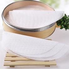 Grille réutilisable en Silicone antiadhésive   Tapis de cuisine à vapeur pour cuiseur à vapeur, boulettes de petits pains farcis de 20-50cm