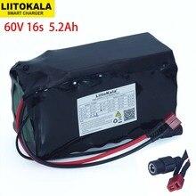 LiitoKala 16S2P 60V 5.2Ah 18650 리튬 이온 배터리 팩 67.2V 5200mAh Ebike 전기 자전거 스쿠터 20A 방전 BMS 1000 와트