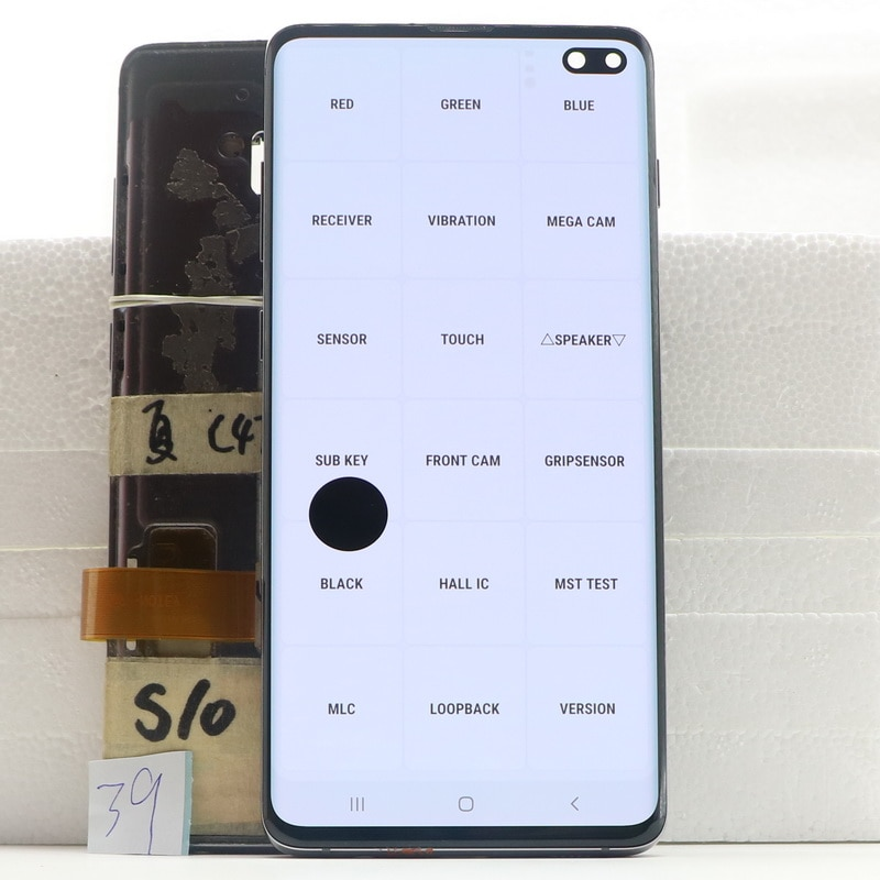 Original LCD Display For Samsung Galaxy S10 Plus S10+ SM-G9750 G975F SM-G975 Display Touch Screen Digitize Assembly With defect enlarge