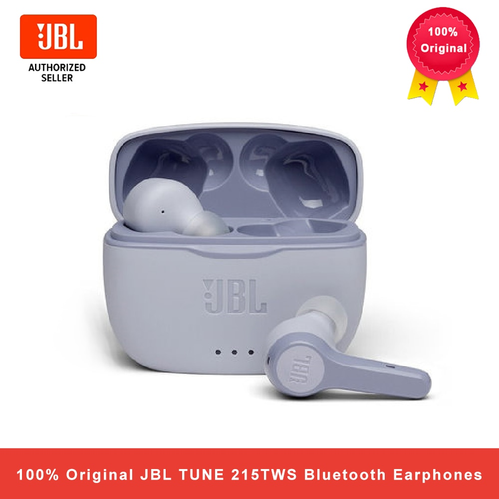 JBL TUNE 215TWS True سماعة لاسلكية تعمل بالبلوتوث 5.0 سماعات T215TWS مكالمات ستيريو سماعات أذن باس صوت سماعة رأس مزودة بميكروفون