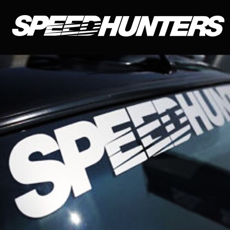 SPEEDHUNTERS Front Rear Windshield Banner Decal Vinyl Car Sticker Auto Window Exterior Decorations Styling Clear Background noizzy hades member ho dragon shield car sticker auto rear windshield decal vinyl reflective automobile white tuning car styling