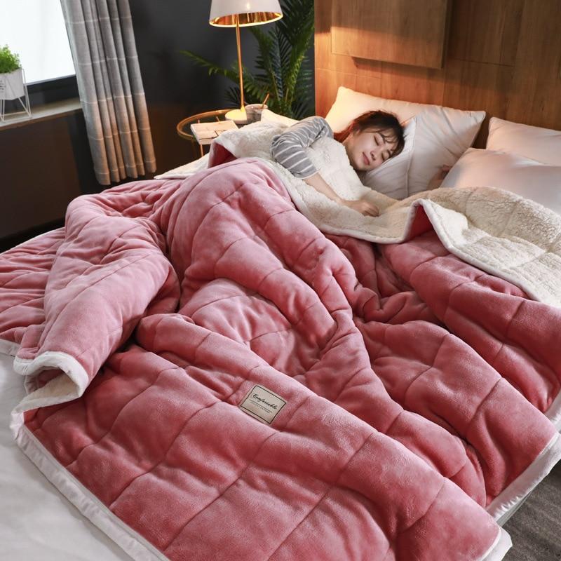 Claroom بطانية دافئة فاخرة سميكة البطانيات للأسرة بطاطين صوف ويلقي الشتاء الكبار غطاء السرير