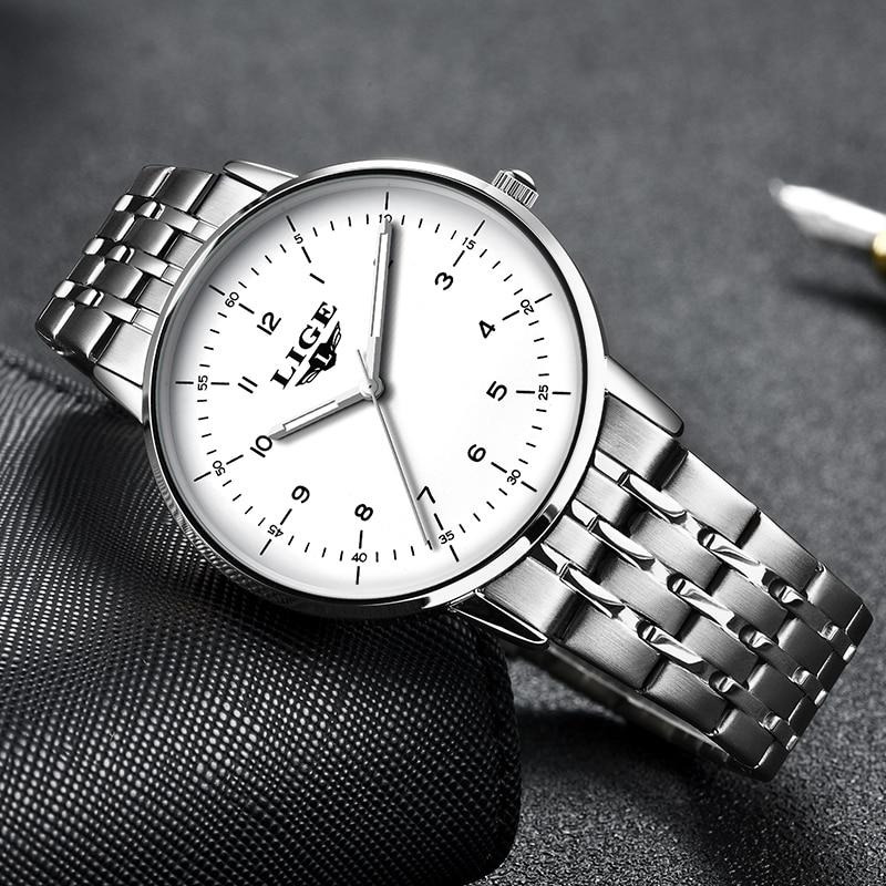 LIGE Women Watches Top Brand Luxury Ladies Watch Women Waterproof Stainless Steel Ladies watch Bracelet Clock Relogio Feminino enlarge