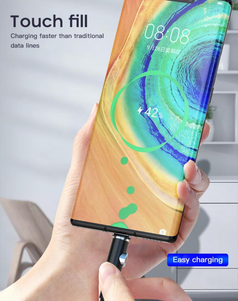 Cable Micro USB tipo C magnético para Samsung, cargador magnético de carga...