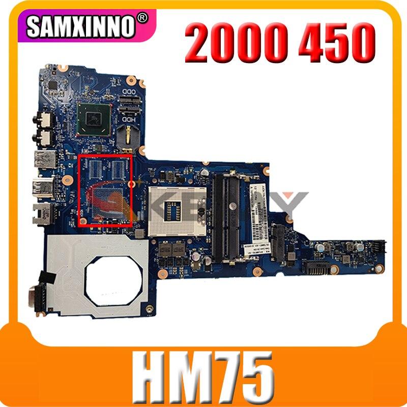 محمول لوحة رئيسية لأجهزة HP 2000 450 الرئيسية مجلس 685107-001 685107-501 PGA989 HM75 J8F DDR3 اختبار كامل