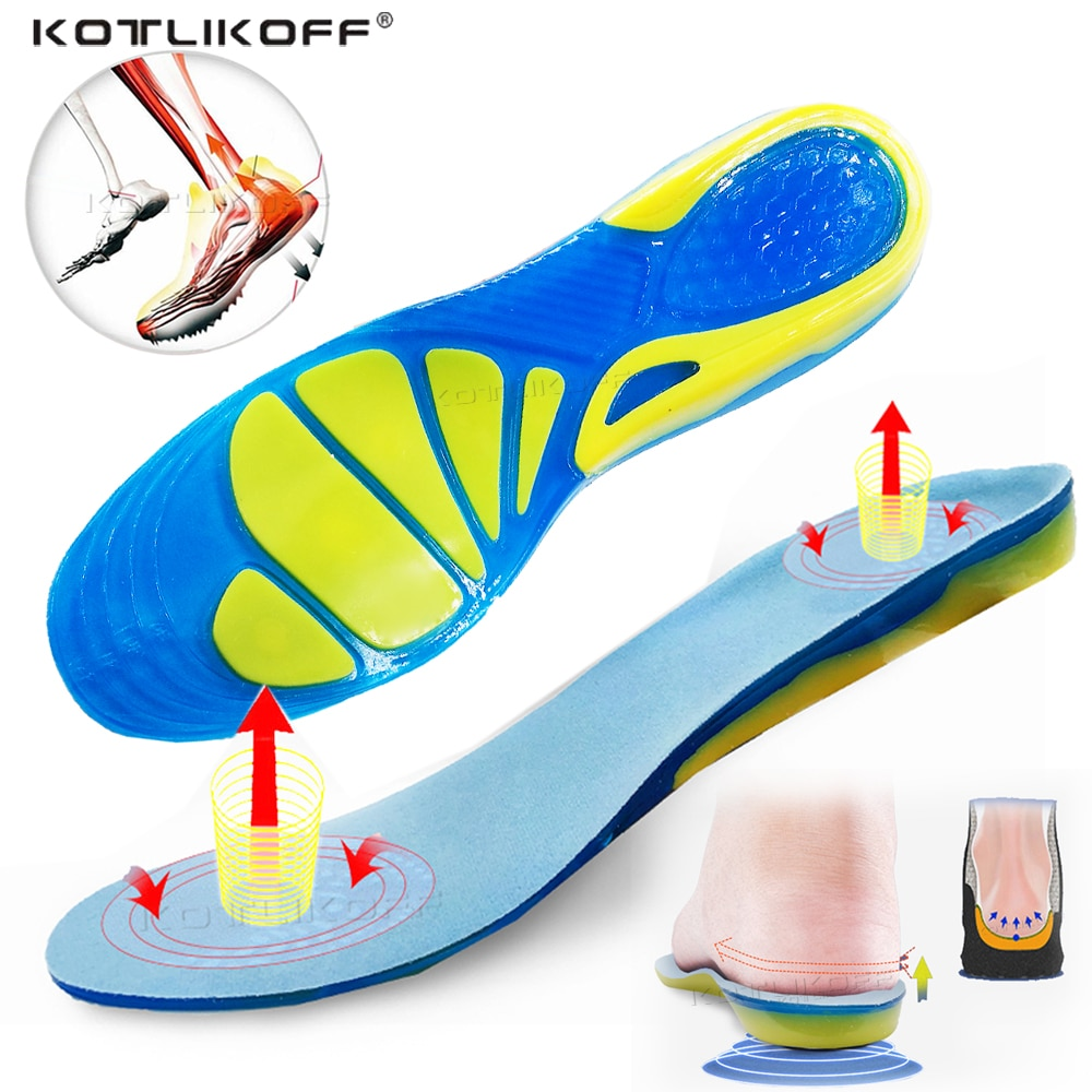 Silicone Non-Slip Gel Soft Sport Shoe Insoles Massaging Insole Orthopedic Foot Care For Feet Shoes S