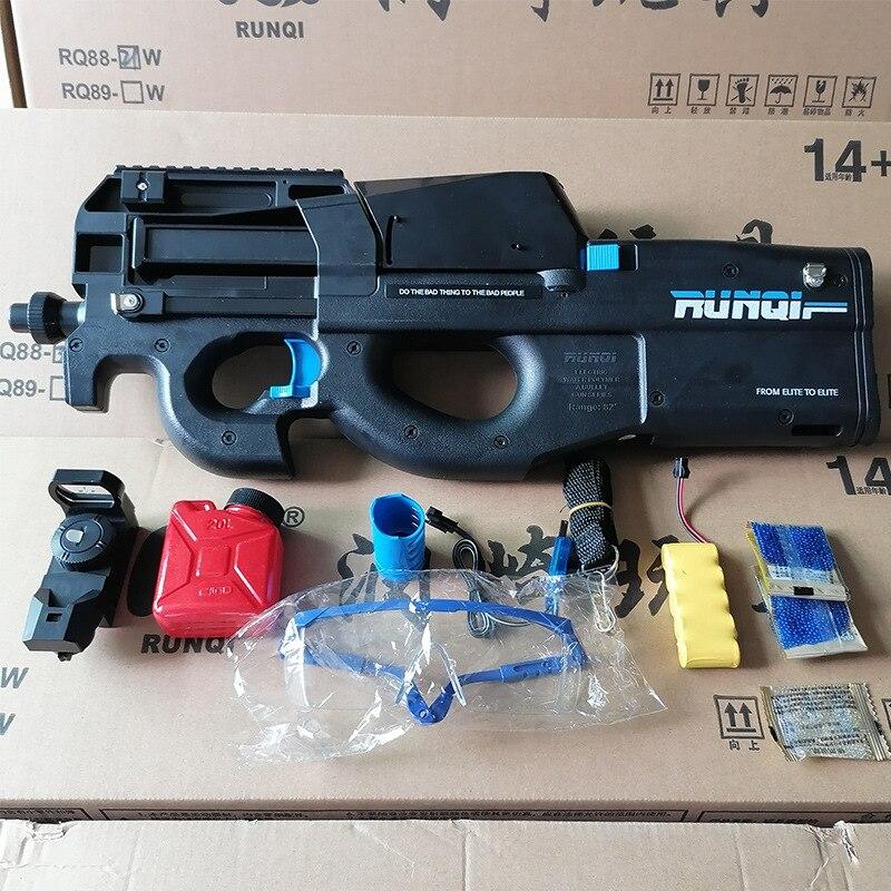 Pistola de agua eléctrica P90, pistola eléctrica, pistola de tiro CS para exteriores, juegos seguros, Bola de Gel, Rifle, Arma de francotirador, pistola, regalos para niños