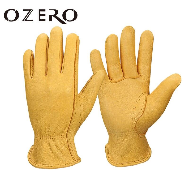 Мотоциклетные Перчатки Ozero в стиле ретро, кожаные мужские мотоциклетные перчатки, велосипедные перчатки с закрытыми пальцами, велосипедные...