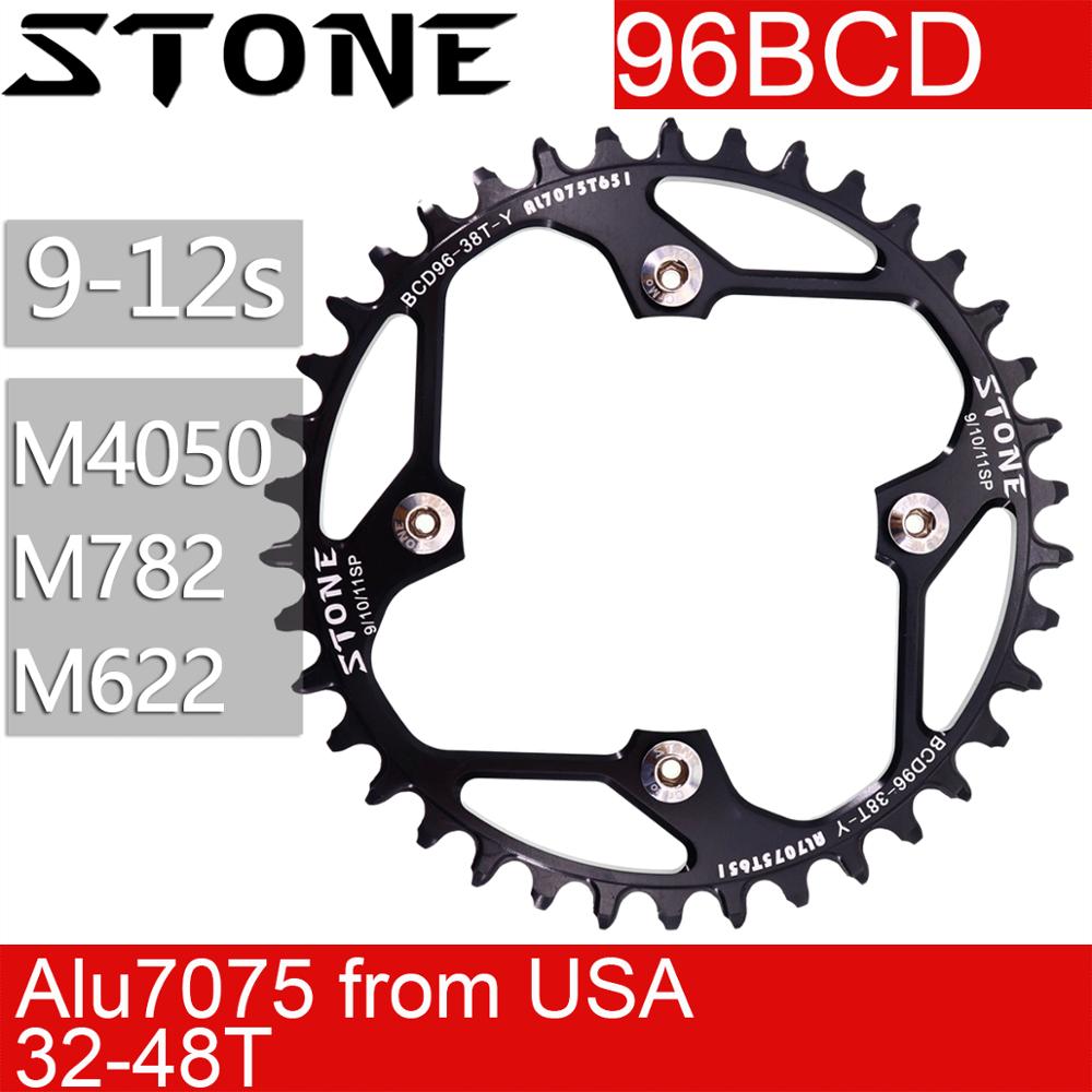 Pedra 96bcd redonda chainring para shimano m782 m612 xtc860 36t 38 40t 42 44 46 48 t mtb bicicleta roda dentada placa 96bcd