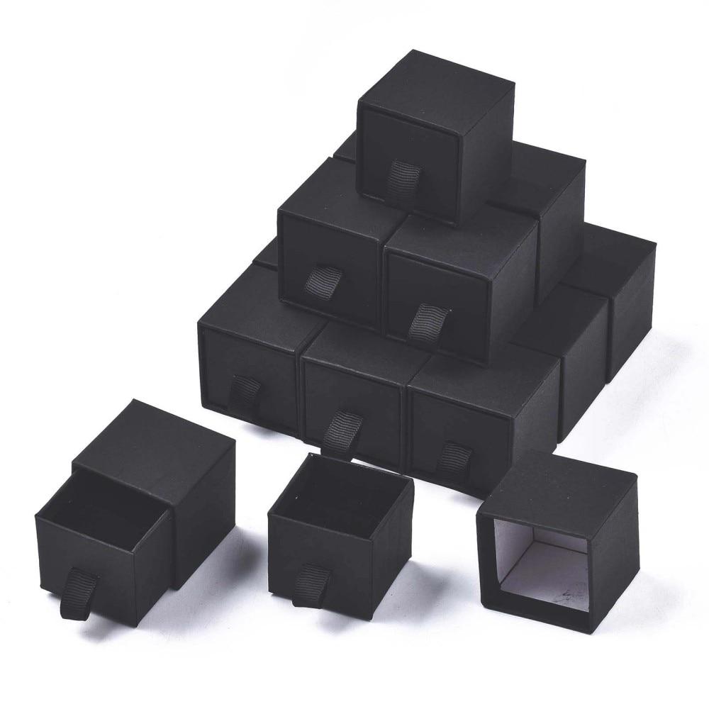 24 шт., картонные подарочные коробки для ювелирных изделий, 4,5x4,5x4,5 см