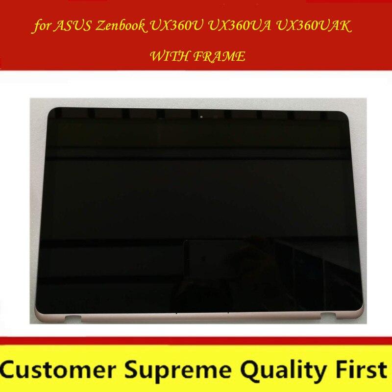 """LP133QD1 SPB2 13.3 """"zoll LCD Display Bildschirm für Asus Zenbook UX360U UX360UAK CD Bildschirm + Touch Digitizer Montage 3200*1800"""