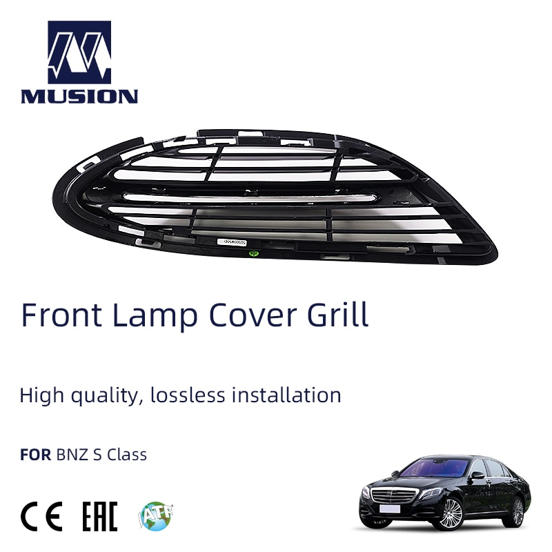 Musion S400 S500 S600 Class S Front Bumper Fog Lamp Cover Trim Grille ABS Chromium Protector Made In China enlarge