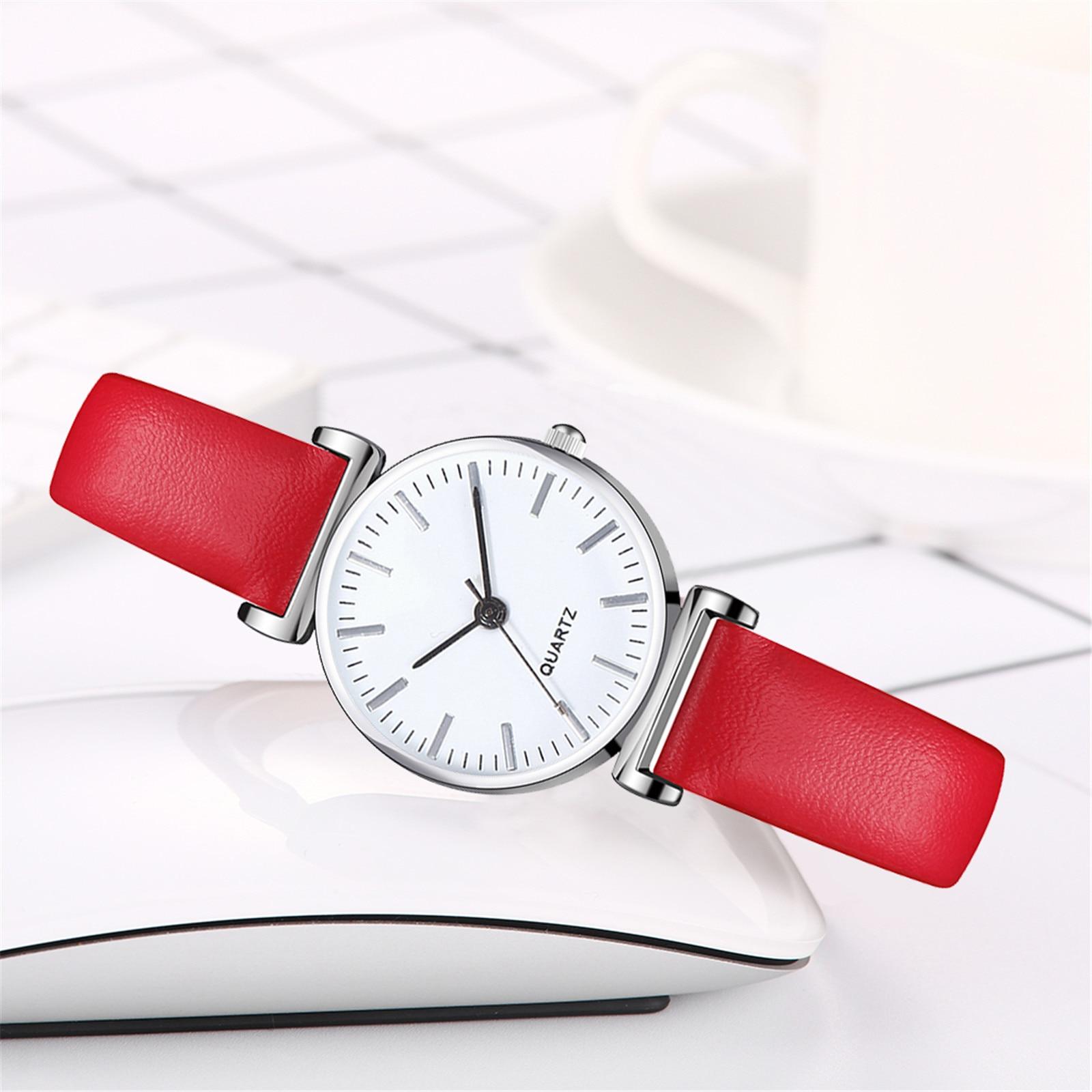 Luxury Temperament Women Watch leather Belt Watch Analog Arabic Digital Quartz Watch for female suit
