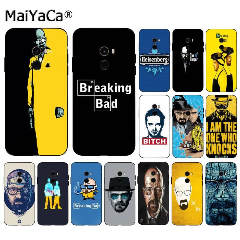 MaiYaCa Breaking Bad Head retrato colorido lindo teléfono accesorios funda para Xiaomi 8 9 se Redmi 6 Pro 6A 4X7 nota 5 7