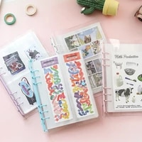 transparent section simple sticker storage book a5 loose leaf creative japanese stickers hand account storage book