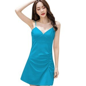 New Ruched Fold White Women Dress Summer Sleeveless Mini Party Dress Female Basic A-Line Dress Women Streetwear