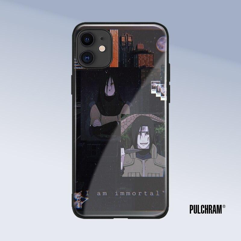 Orochimaru Naruto Shippuden anime-dibujos de funda de teléfono para iPhone 6 iPhone 6 6s 7 8 x xr xs 11 pro max Samsung Nota 8 9 10 20 Plus cubierta