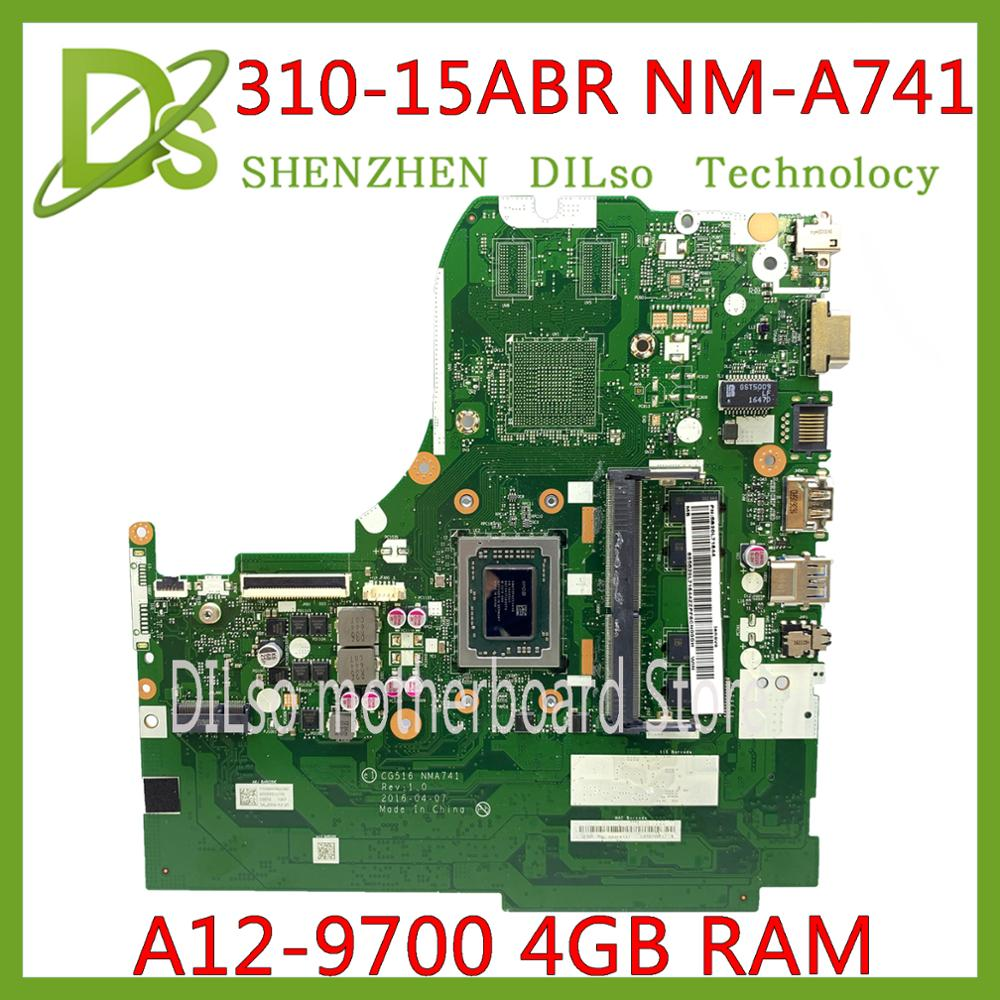 KEFU CG516 NM-A741 para Lenovo Ideapad 310-15ABR ordenador portátil placa base amd A12-9700P 4GB RAM 100% prueba trabajo original