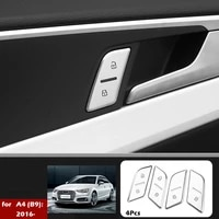 car door unlock button stickers switch button cover trim handle stickers suitable for audi a4 b9 a3 q5 q3 car interior styling