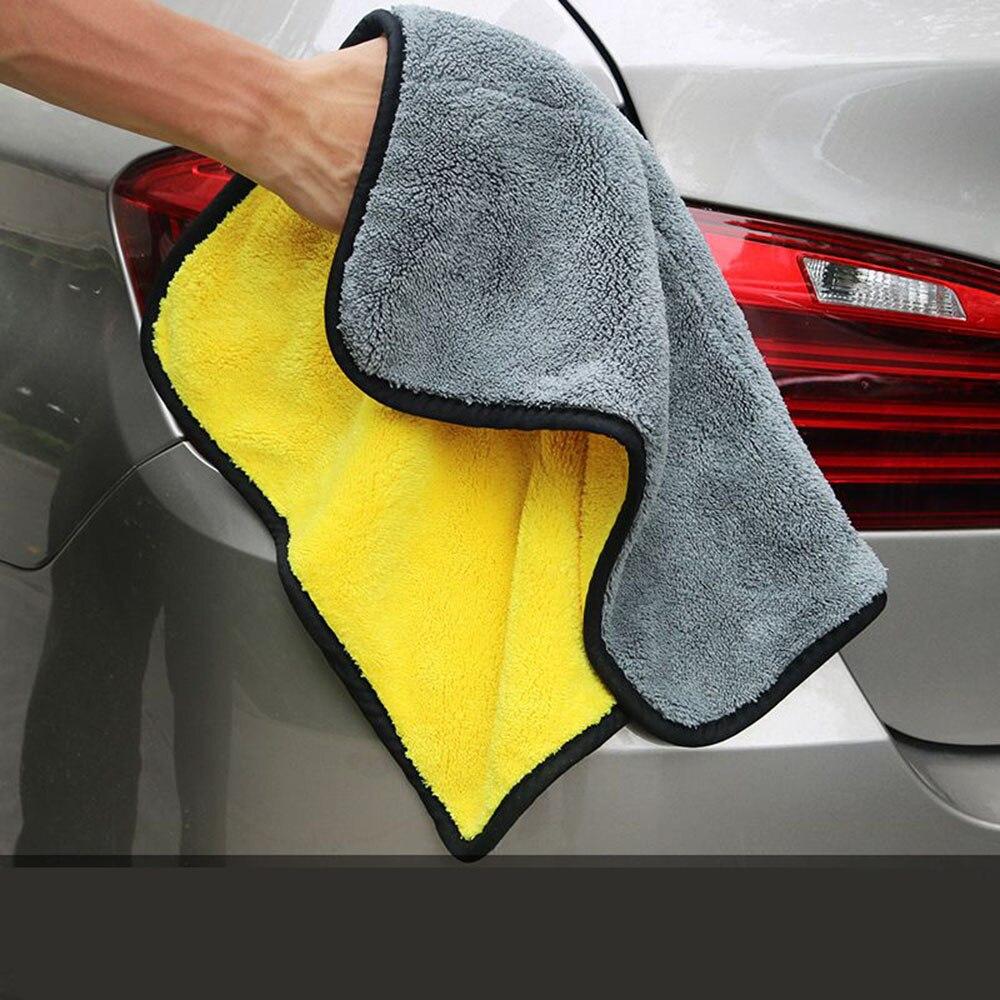 Toalla de microfibra de 30cm x 30cm paño de limpieza de coche reutilizable paño de limpieza de lavado de coches Toalla de detalles para coche puerta de ventana de casa