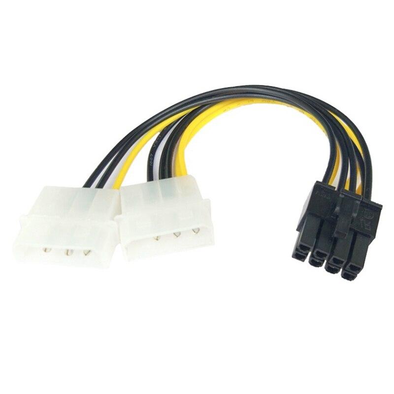 Cable de 8 pines a doble tarjeta de vídeo de 4 pines, adaptador de Cable de alimentación, accesorio de conector