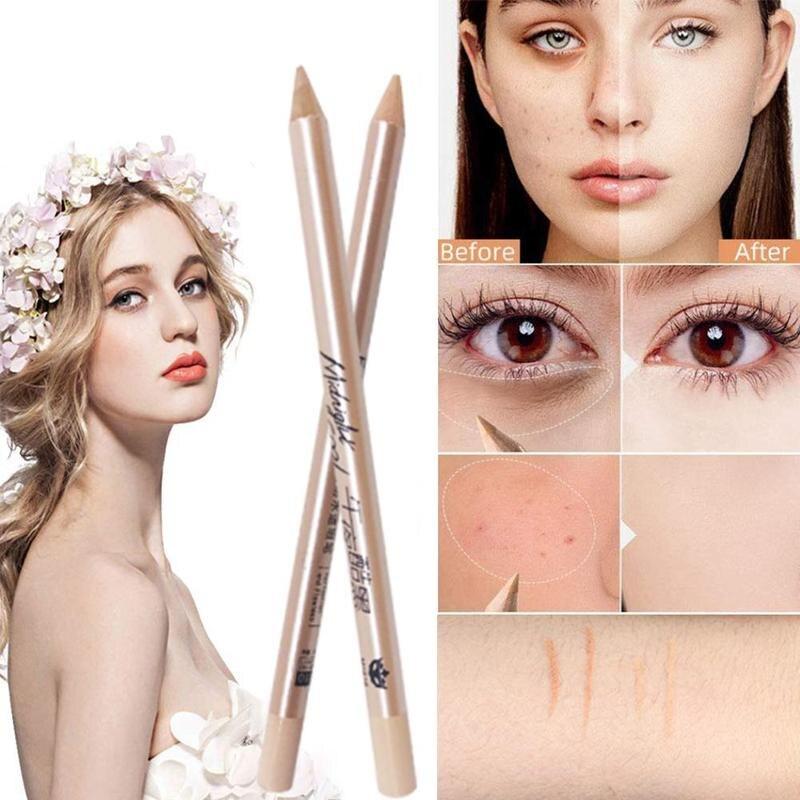 Lápiz de cejas impermeable duradero coreano, de Color sólido lápiz de cejas, diseño de núcleo duro, delineador de ojos, suministros de Lápiz corrector de línea de labios