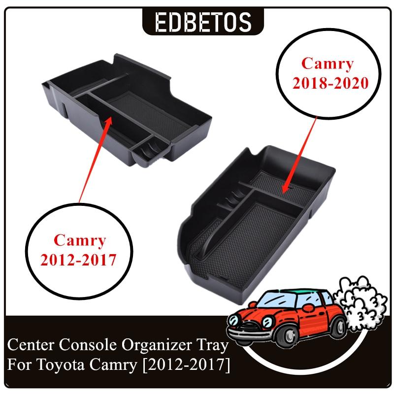 EDBETOS автомобильный ящик для перчаток, органайзер, подлокотник, вспомогательное хранилище, центральная консоль, лоток для Toyota Camry 2012 2013 2014 2015 2016 2017