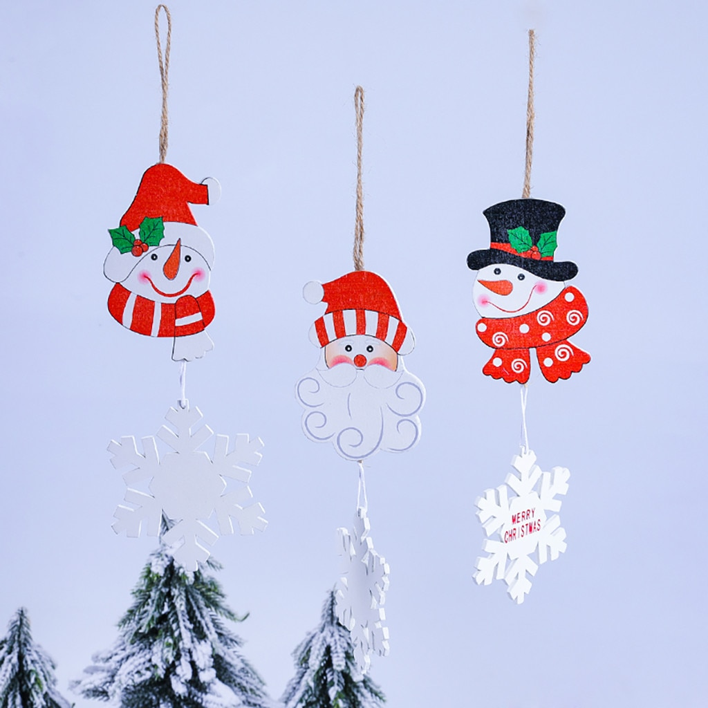 3 uds. Decoración de boda de Navidad, ornamento para árbol de Navidad colgantes con etiquetas para colgar en las ventanas de la Mesa, encantador colgante de Navidad