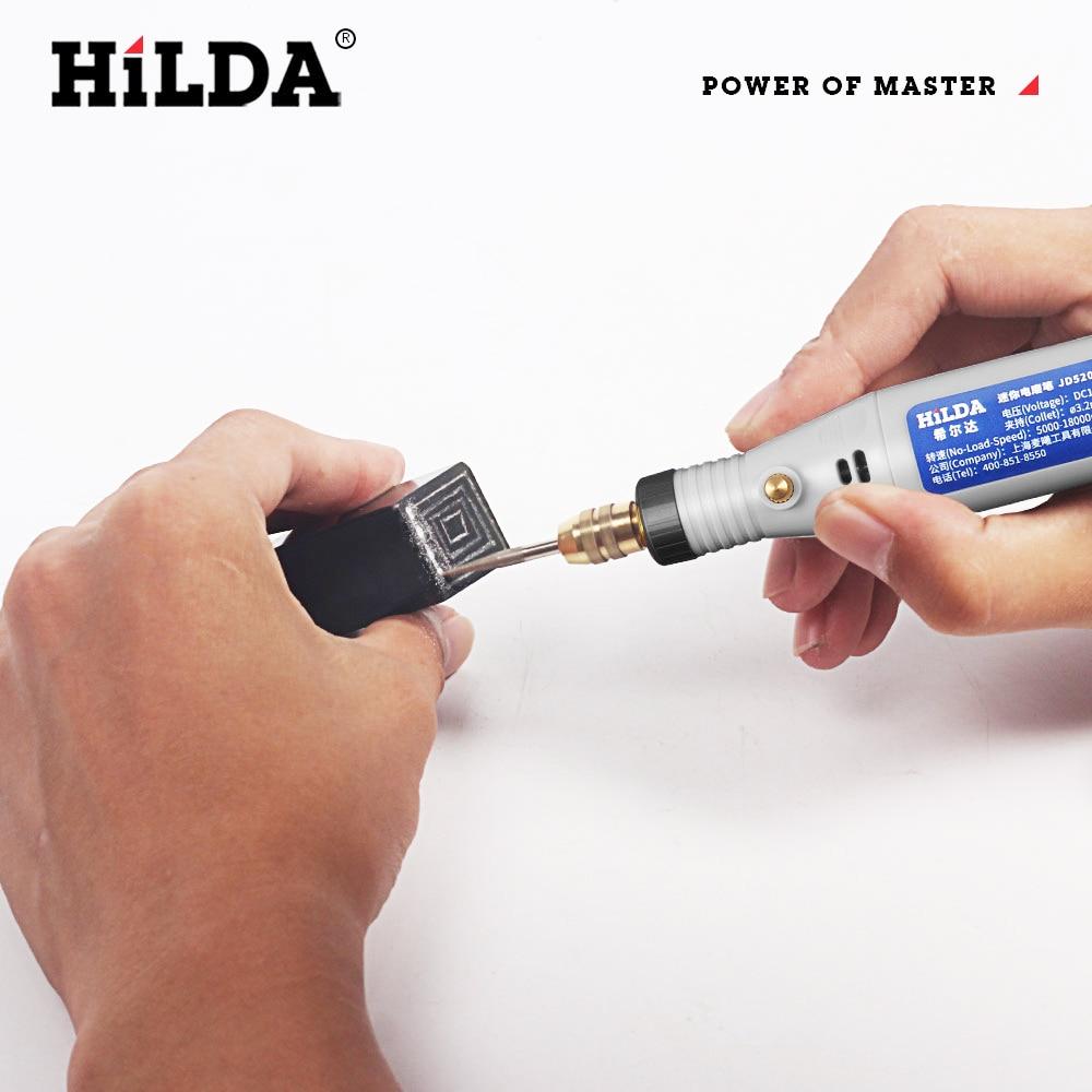 Hilda 18V graveerimispliiatsi mini-puurimisvahend koos - Elektrilised tööriistad - Foto 4