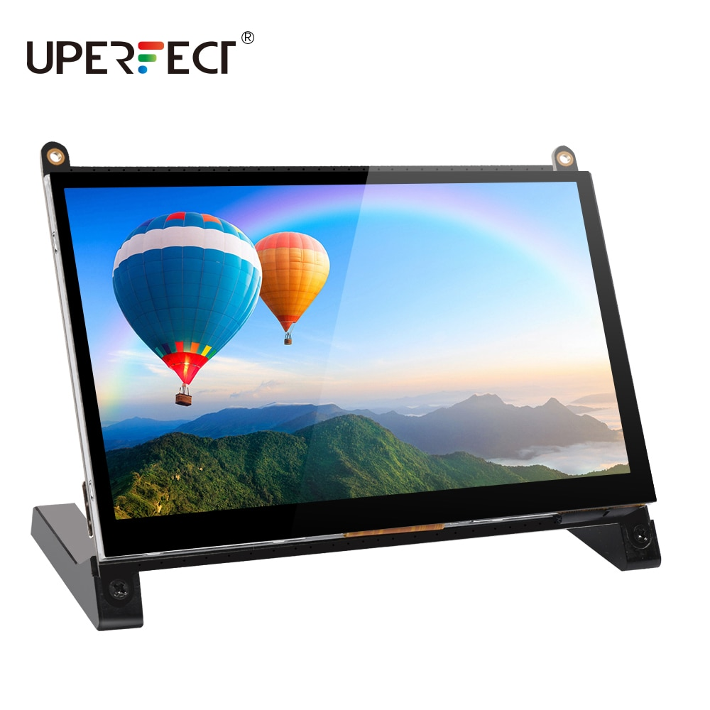 UPERFECT 7 بوصة شاشة كمبيوتر محمول ذات دقة عالية شاشة لتوت العليق Pi 1024X600 HDMI مراقب مع حامل لتوت العليق Pi 3 2 نموذج B + 3B 2B B + A +