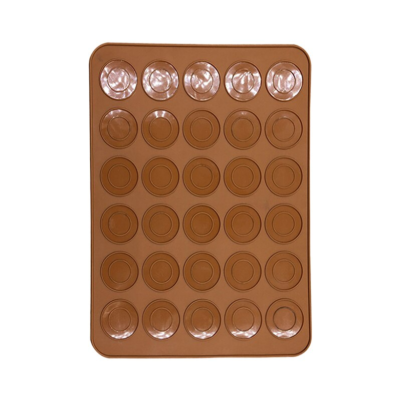30 redes cavidad bricolaje molde hornear herramientas útiles silicona Macaron pastel horno alfombrilla con moldes para hornear barato decoración para el hogar