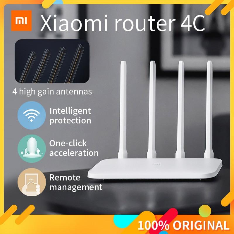 Xiaomi مي WIFI راوتر 4C 64 RAM 300 2.4G 802.11 b/g/n 4 هوائيات الفرقة الموجهات اللاسلكية واي فاي مكرر Mihome APP التحكم