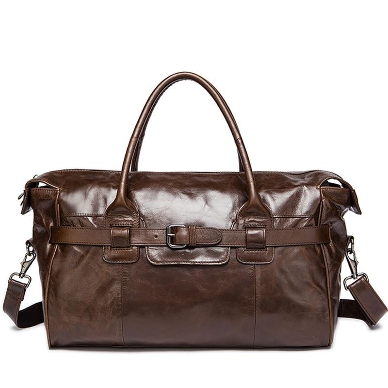 2021 Fashion Travel Bag Men Women Classic PU Leather Luggage Bags Large Capacity Handbags Trip Shoulder Bags Male Hot