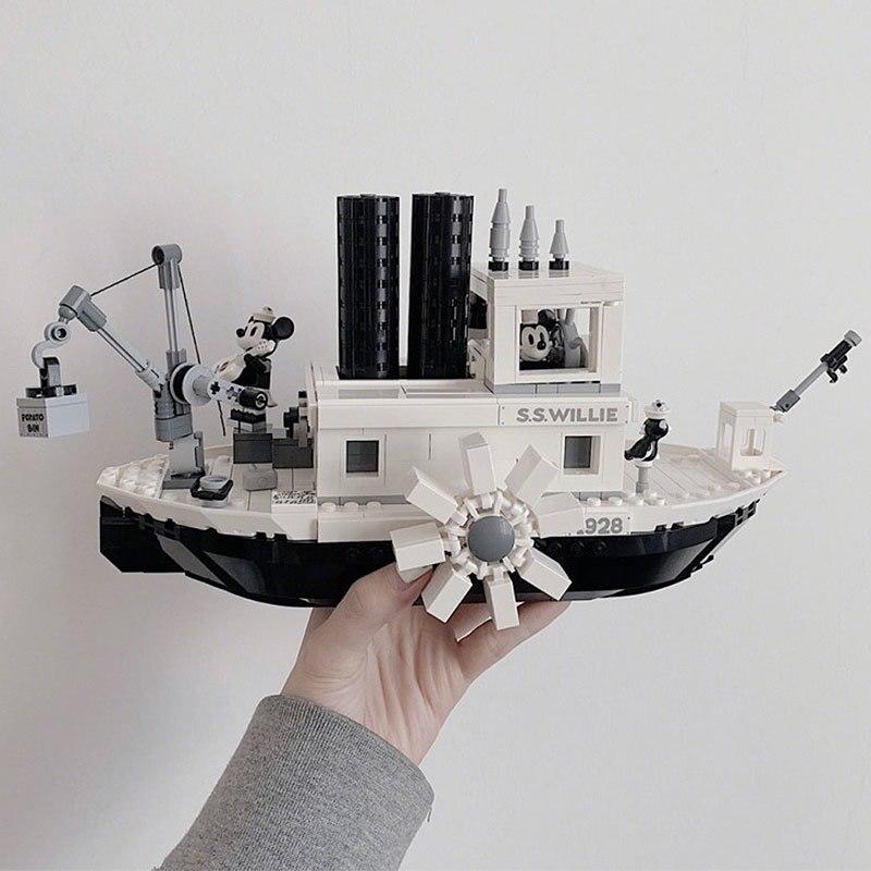 2019 nuevas Ideas barco de vapor Willie película Fit Lepining figuras bloques de construcción ladrillos juguetes para niños regalos modelo niños