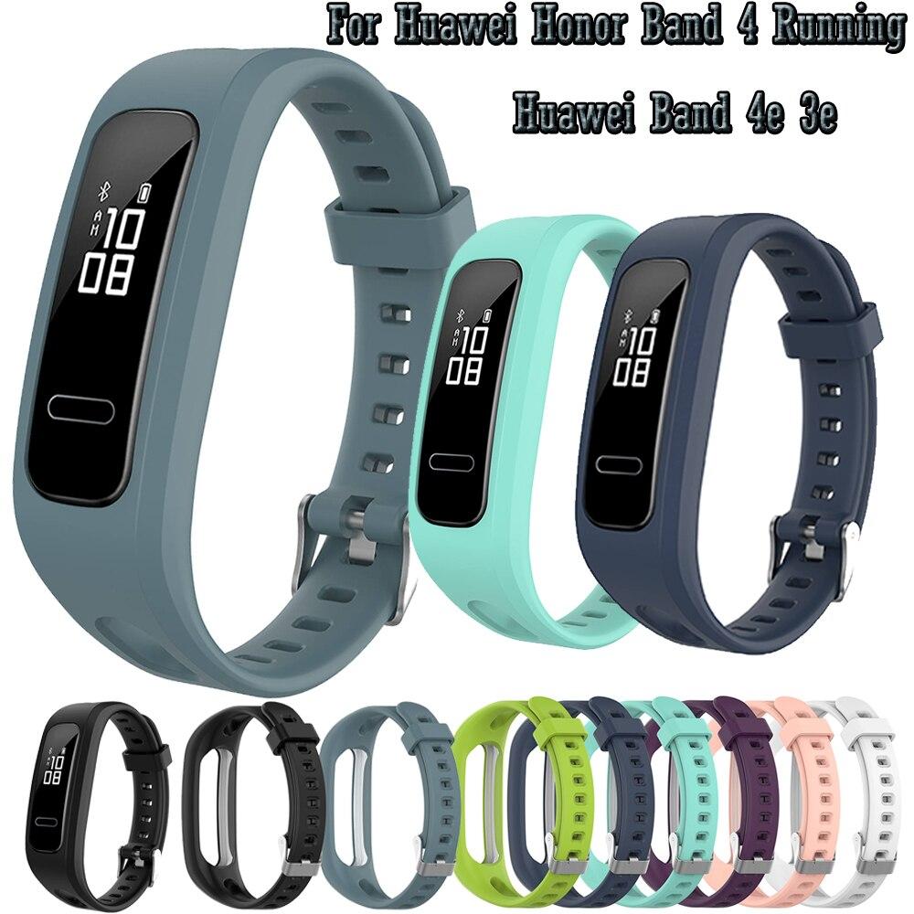 Ремешок силиконовый для Huawei Honor Band 4 Running/Huawei Band 4e 3e, спортивный браслет для смарт-часов
