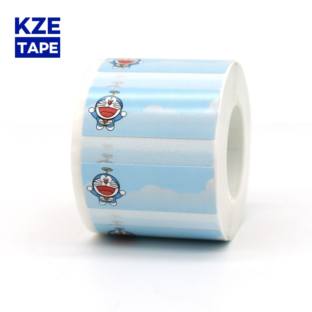 Симпатичная термоэтикетка Kze Robot Cat, рулон 30*12 мм, новинка, Typeable Washi Tape, милая отметка наклейка для EQ11 mini, термопринтер для этикеток