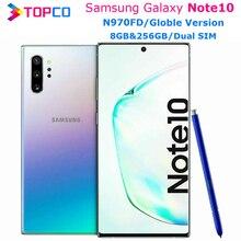 "Samsung Galaxy Note10 N970FD Note 10 double SIM téléphone portable dorigine Exynos 9825 Octa Core 6.3 ""Triple caméras 8 go et 256 go NFC"