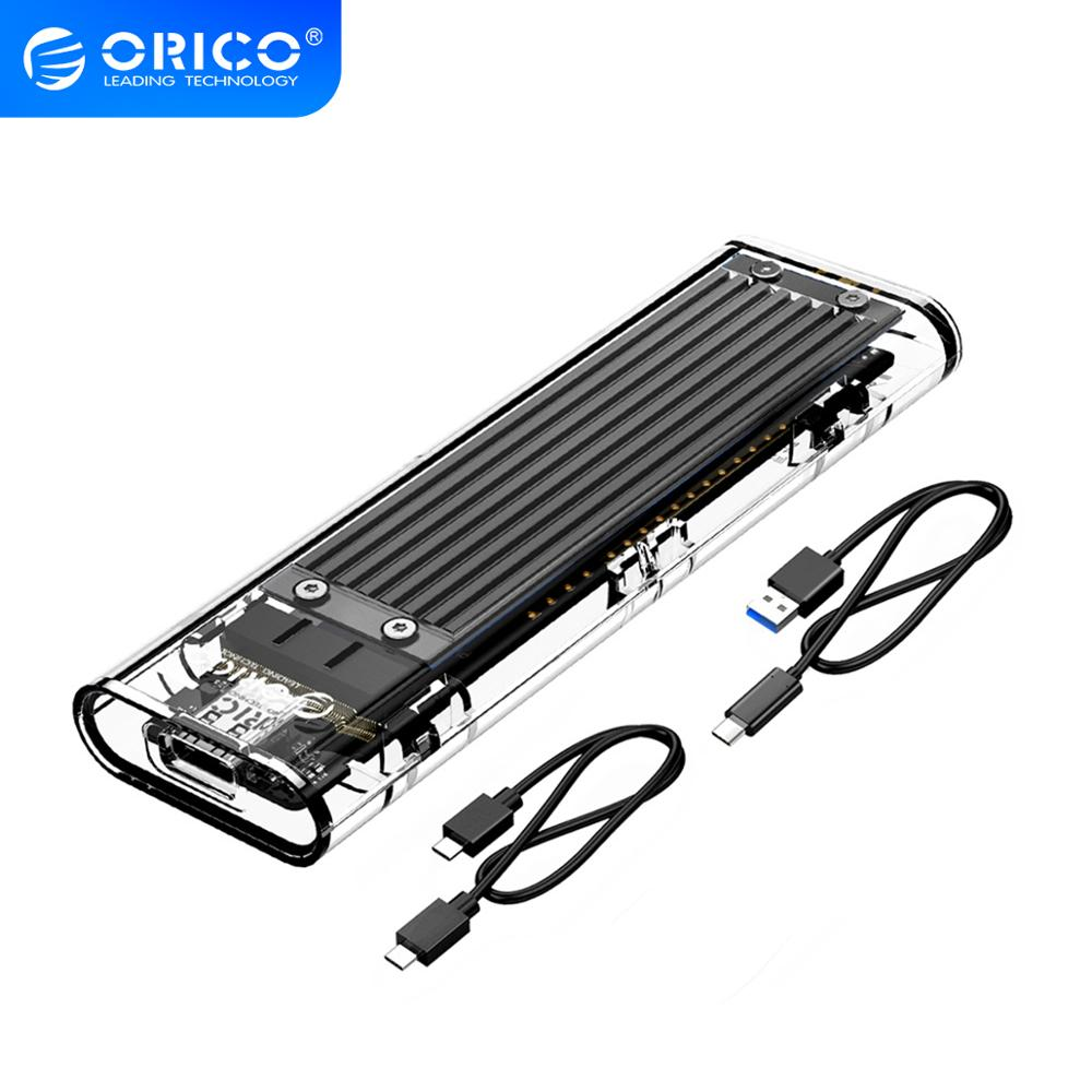 pci e to m 2 nvme ngff riser card m key b key hard disk drive adapter desktop hdd expansion card for mac linux windows ORICO M.2 SSD Case for NVME PCIE NGFF SATA M/B Key SSD Disk NVME SSD Enclosure M.2 to USB C Transparent Hard Drive Box 10Gbps