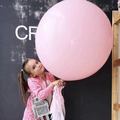36 pulgadas Macaron globo redondo mate caramelo globo de látex rosa púrpura decoración de globos para bodas decoración de fiesta para niños
