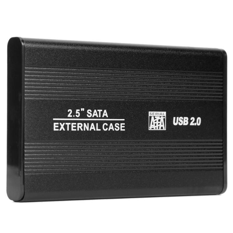 2,5 pulgadas USB 2,0 a SATA HDD funda externa 480Mbps SSD carcasa de disco duro compatible con disco duro de 3 TB para Windows 95/98/SE/ME