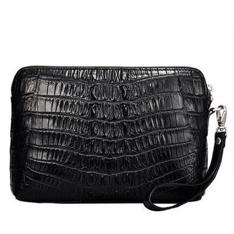 cestbeau new real crocodile leather  men clutch bag man's purse  crocodile's back men clutch bag male wallet