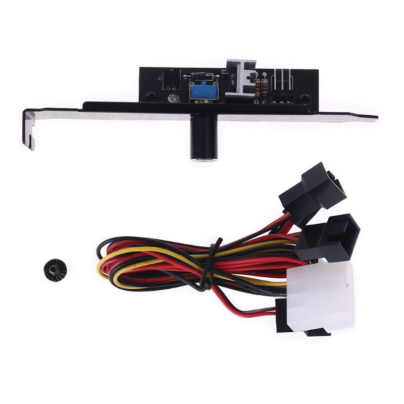 3 way pc cooler cooling 3pin fan speed controller for cpu case hdd ddr graphics card w self stick power molex ide 4pin female 3 Channels PC Cooler Cooling Fan Speed Controller for CPU Case HDD DDR VGA AS L