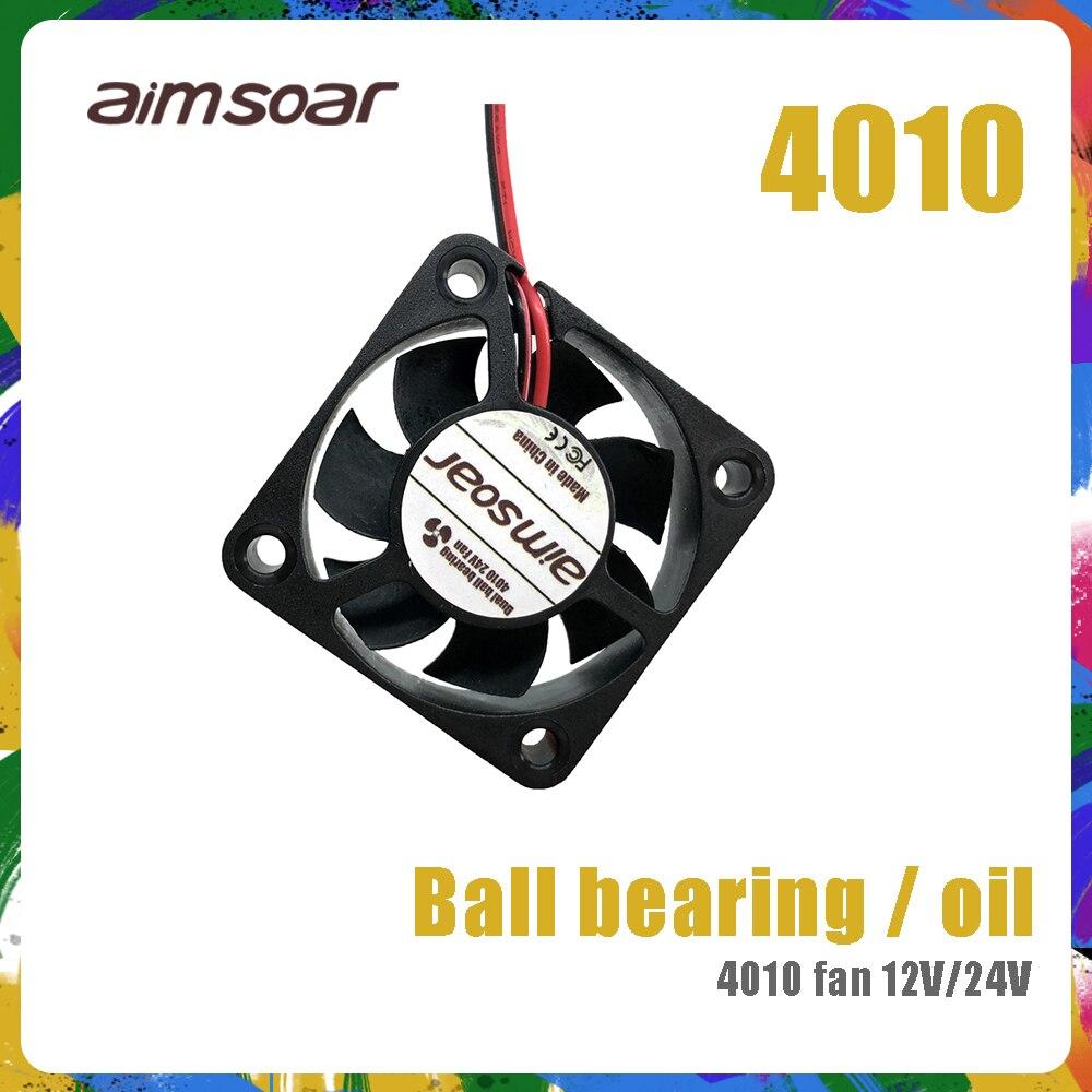 4010 вентилятор 12 в 24 В ender 3 вентилятор 40 мм 2 контактный масляный вентилятор двойной шариковый подшипник охлаждающий вентилятор 3d части принтера 4010 40*40*10 мм