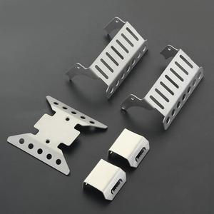 Stainless Steel Axle  Protector  Chassis  Armor  Skid  Plate For Rc Crawler Axial Scx10 Iii Axi03007 Upgrade Parts