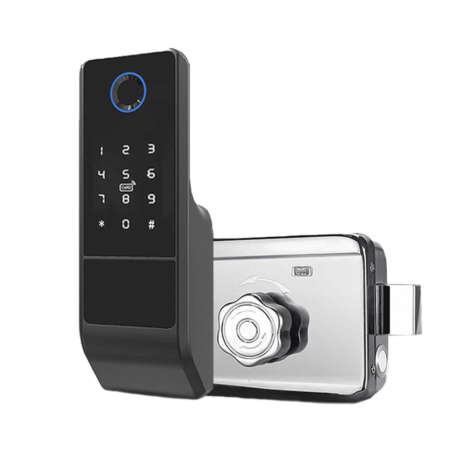 Get Tuya Smart Door Lock Fingerprint Password Key NFC Unlock With Doorbell Touchscreen Keypad Electronic Lock