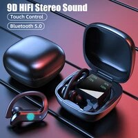 earphone wireless headphone with high definition mic stereo sports waterproof earbud touch control bluetooth compatible headsets