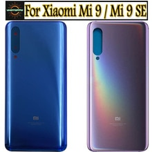 Nouveau pour Xiaomi mi 9 mi9 couvercle de batterie porte arrière boîtier panneau de verre Mi9 SE pièces de rechange pour Xiaomi mi 9 couvercle de batterie